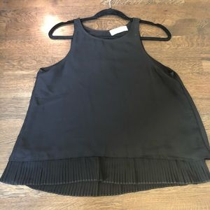 Abercrombie & Fitch women's sheer black top